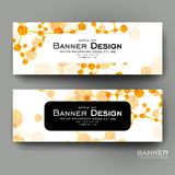 Beautiful banner vector template with DNA molecule background Royalty Free Stock Photography