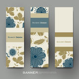 Beautiful banner vector template with floral background Stock Image