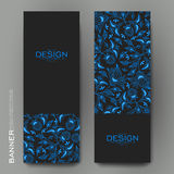 Beautiful banner vector template with floral ornament background Royalty Free Stock Photography