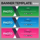 Banner Template for business designe. Beautiful banner for web site design and layout Royalty Free Stock Photos