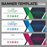 Banner Template for business designe. Beautiful banner for web site design and layout Stock Photos