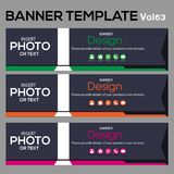 Banner Template for business designe. Beautiful banner for web site design and layout Royalty Free Stock Photography