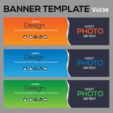 Banner Template for business designe. Beautiful banner for web site design and layout Stock Images