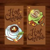 Beautiful banners hot chocolate Royalty Free Stock Photography