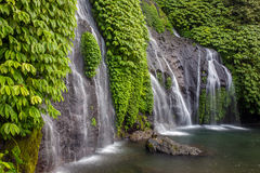 Beautiful Banyumala Waterfall in Bali Royalty Free Stock Photography