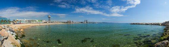 Beautiful Barcelona beach Stock Photography
