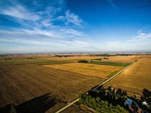 Aerial drone photo - Illinois corn farm royalty free stock images