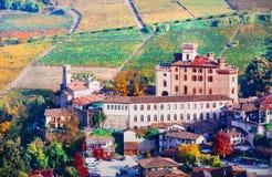 Famous wine region in Piedmont. Barolo castle Stock Image