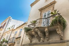Beautiful baroque balcony royalty free stock images