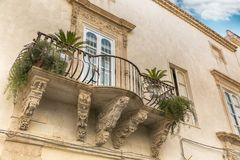 Beautiful baroque balcony Royalty Free Stock Photos