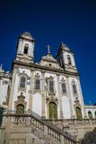Church V.O.T. do Carmo, Salvador, Bahia, Brazil. Beautiful Baroque facade of Church V.O.T. do Carmo, Salvador, Bahia, Brazil stock photo
