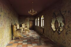 Beautiful baroque room Royalty Free Stock Photos