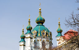 Beautiful baroque St. Andrew's Church or the Cathedral of St. An Royalty Free Stock Photos