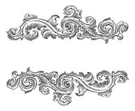 Beautiful Baroque  style decorative calligraphy floral  ornament Royalty Free Stock Image