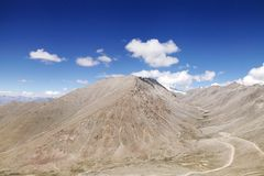 Beautiful barren mountain formed by glaciers Stock Photography