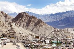 Beautiful barren Mountain in the Indus valley, Leh-ladakh Royalty Free Stock Image
