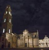 Beautiful basilic lecce by night Royalty Free Stock Image