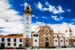 Beautiful Basilica de Candelaria church Stock Image