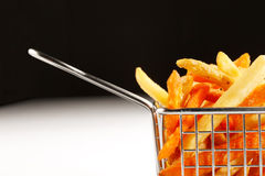 A beautiful basket of fried chips Royalty Free Stock Photo