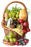 Beautiful basket for picnic. Royalty Free Stock Image