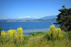 Beautiful Batak lake view Stock Photos