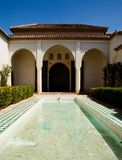 Beautiful bathing in Alcazaba palace Royalty Free Stock Image