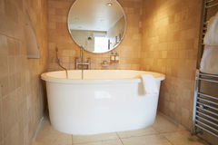 Beautiful Bathroom With Free Standing Bath And Shower Royalty Free Stock Photography