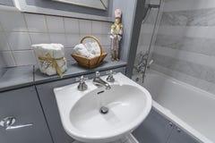 Beautiful bathroom in Georgian colors Royalty Free Stock Photos