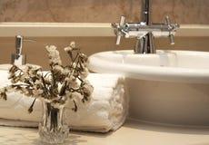 Beautiful bathroom interior Stock Photo