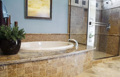 Beautiful bathroom interior design Royalty Free Stock Photos