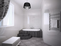 Beautiful bathroom with jacuzzi Stock Photos