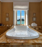 Beautiful bathroom with jacuzzi Stock Photo