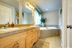 Beautiful bathroom with whirpool Royalty Free Stock Images