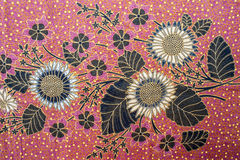 Beautiful Batik Pattern Stock Photo