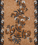 Beautiful Batik Pattern Stock Photography