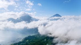 Beautiful Batur lake near Kintamani mountain Royalty Free Stock Photo