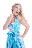 Beautiful bavarian girl Royalty Free Stock Photography