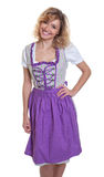 Beautiful bavarian woman with curly blonde hair Stock Photos