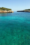 Beautiful bay. Beautiful Mediterranean bay with blue water on the Majorca Royalty Free Stock Photography