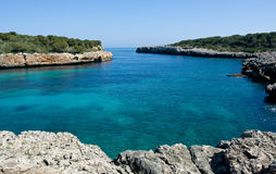 Beautiful bay. Beautiful Mediterranean bay with blue water on the Majorca Royalty Free Stock Photos