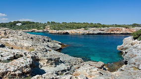 Beautiful bay. Beautiful Mediterranean bay with blue water on the Majorca Royalty Free Stock Photo