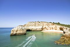 Beautiful bay in the Algarve Portugal Stock Photography