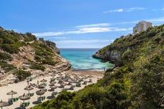 Mallorca, Cala de Mallorca. Beautiful bay in Cala de Mallorca stock images