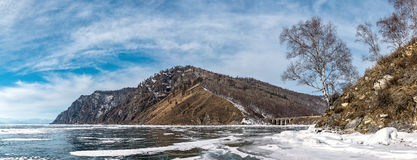 Beautiful Bay on Circum-Baikal railroad Royalty Free Stock Photos