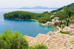 beautiful bay in Kalami in Corfu island, Greece royalty free stock photography
