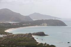 Beautiful bay with lighthouse,  Margarita Island. Venezuela Royalty Free Stock Image