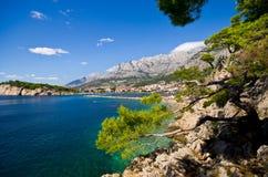Beautiful bay of Makarska, Croatia Royalty Free Stock Photo