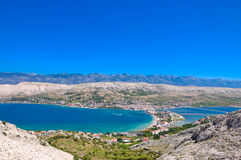 Beautiful bay and mountains. Panorama of the beautiful bay and mountains Royalty Free Stock Photography