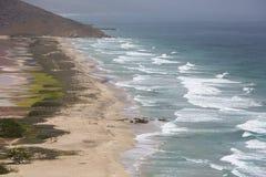 Beautiful bay with the ocean,  Margarita Island. Venezuela Royalty Free Stock Photography