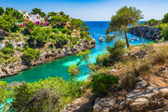 Beautiful Bay Of Cala Pi, Majorca Spain Stock Photo